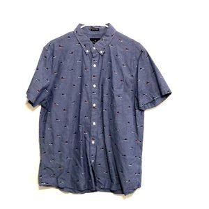 American eagle sneakers short sleeve button down